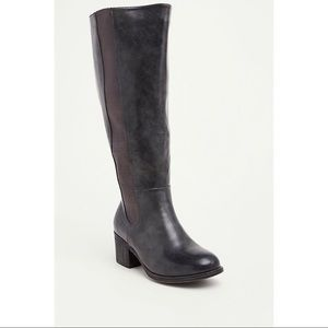 Torrid faux leather knee high boot grey wide calf